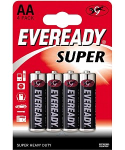 Батарейки EVEREADY SUPER R6 типа AA  - 4 шт.